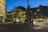 Vienna, Austria March 24, 2014. Evening view of city streets — Stock Photo