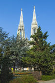 Vienna, Austria, on March 24, 2014. Votivkirche, architectural details — Foto de Stock