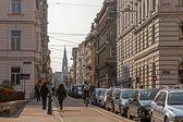 Вена, Австрия. типичный городской вид туристической части города — Стоковое фото