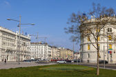 Vienna, Austria, on March 25, 2014. Typical urban view of tourist part of the city — Stock Photo