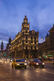 Budapest, Hungary. Typical urban view at night. — Stock Photo