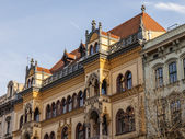 Budapest, Hungary. Architectural fragments of historic buildings — Stock Photo