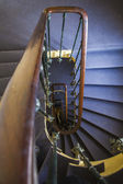 Detail of stairs between floors in an old house — Stockfoto
