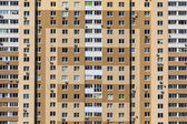 Wall of a new model of an apartment house — Stok fotoğraf