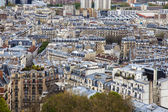 Paris, France, April 29, 2013 . View of the city from the observation platform of the Basilica of Sacre Coeur in Montmartre — Foto Stock