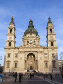 Budapest, Hungary. Architecture of the Basilica of St. Stephen — Foto de Stock
