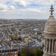 Paris, France. View of the city from the observation platform of the Basilica of Sacre Coeur in Montmartre — Foto de Stock