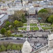 Paris, France, April 29, 2013 . Tourists at Sacre- Coeur in Montmartre — Stock Photo #45134425