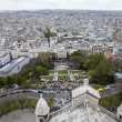 Paris, France . View of the city from the observation platform of the Basilica of Sacre Coeur in Montmartre — Stock Photo #45172403