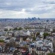 Paris, France . View of the city from the observation platform of the Basilica of Sacre Coeur in Montmartre — Stock Photo #45172663