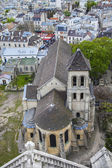 Paris, France . View of the city from the observation platform of the Basilica of Sacre Coeur in Montmartre — Stock Photo