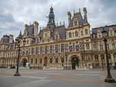 Paris, France, April 29, 2014 . View of the Town Hall — Stock Photo