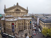 Paris, France. View of the city from the observation platform multistory store. Opera Garnie — Stock Photo