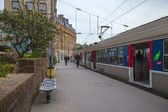Paris, France, May 3, 2013 . Train platform at the Gare de Lyon (Gare du Lion) — Stock Photo