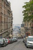 Paris, frankreich. malerischen straße auf dem montmartre-hügel — Stockfoto