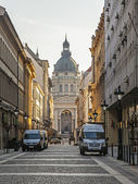 Budapest, Hungary, March 22, 2014 . Typical urban look. — Stock Photo