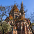Budapest, Hungary, March 22, 2014 . Calvinist Reformed Church on the Danube — Stock Photo #45781079