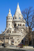 Budapest, Hungary . Fishermen 's Bastion . Fishermen's bastion is one of the most recognizable and popular sights — Stock Photo