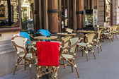 Budapest, Hungary, March 22, 2014. Summer outdoor cafe — Stock Photo