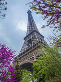Paris, France, May 2, 2013 . Structural elements of the Eiffel Tower — Stock Photo