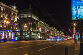 St. Petersburg, Russia. Nevsky Prospekt in the evening — Stock Photo