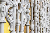 St. Petersburg, Russia . Detail of antique metal decorative fence — Stock Photo