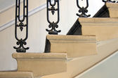 Detail of stairs between floors in an old house — Foto de Stock