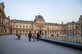 Paris, France, May 2, 2013 . Panorama courtyard of the Louvre — Stok fotoğraf