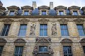 Paris, France. Architectural details typical urban buildings — Stock Photo