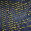 Paris, France. Schedule of arrival and departure of trains Gare du Nord — Stock Photo #46740037