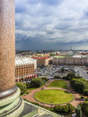 St. Petersburg Russia. View Senate Square from the observation platform of the Cathedral of St. Isaac — Stock Photo