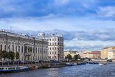 St. Petersburg, Russia , 26 October 2010 . Fontanka River Embankment — Zdjęcie stockowe