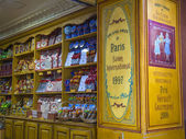 Menton , France , October 15, 2013 . Traditional interior candy store — Stock Photo