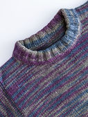 Detail of handmade knitted from woolen thread — Stock Photo