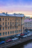 St. Petersburg, Russia. View on embankment of Griboyedov Canal. White nights — Stockfoto
