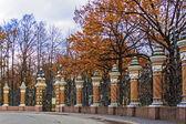 St.-Petersburg, Russia. Fence of the Mikhailovsky Garden. — Stock Photo