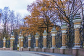 St.-Petersburg, Russia. Fence of the Mikhailovsky Garden. — Stock Photo