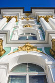 St. Petersburg, Russia. Architectural detail of the facade of the Winter Palace — Stock Photo