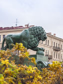 St.-Petersburg, Russia. Figure of a lion on the Neva — Foto Stock