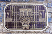 Prague, Czech Republic, July 5, 2010. Manhole cover — Stock Photo