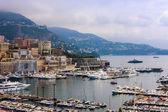 Principality of Monaco, France, July 5, 2011. View Yacht city port — Stock Photo