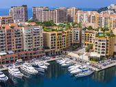 Principality of Monaco, France, July 5, 2011. View Yacht city port — Stock Photo