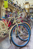 Moscow, Russia, June 24, 2014. Bicycles on the trading floor of a large store — Stockfoto