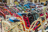 Moscow, Russia, June 24, 2014. Bicycles on the trading floor of a large store — Stock Photo