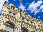 Moscow, Russia, on June 24, 2014. Typical architectural details of historical buildings in a foot zone — Stock Photo