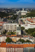 Prague, Czech Republic, on July 5, 2010. View of the city from a survey platform of a television tower — Stock Photo