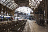 Nice, France, on July 1, 2011. Platforms of the city railway station — Stock Photo
