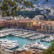 Nice, France, on July 1, 2011. City port of Nice. View from a high point — Stock Photo