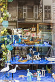 Nice, France, on July 3, 2011. Typical urban view. Reflection in the window — Stock Photo