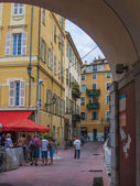 Nice, France, on July 3, 2011. Typical urban view in the summer afternoon — Stock Photo
